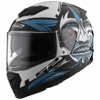 LS2 FF390 Breaker Dark Star Matt Blue White Full Face Helmet