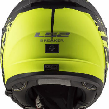 LS2 FF390 Breaker Feline Matt Black Fluorescent Yellow Full Face Helmet 1