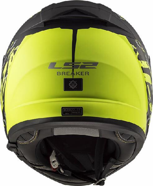 LS2 FF390 Breaker Feline Matt Black Fluorescent Yellow Full Face Helmet 1