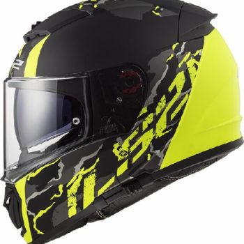 LS2 FF390 Breaker Feline Matt Black Fluorescent Yellow Full Face Helmet