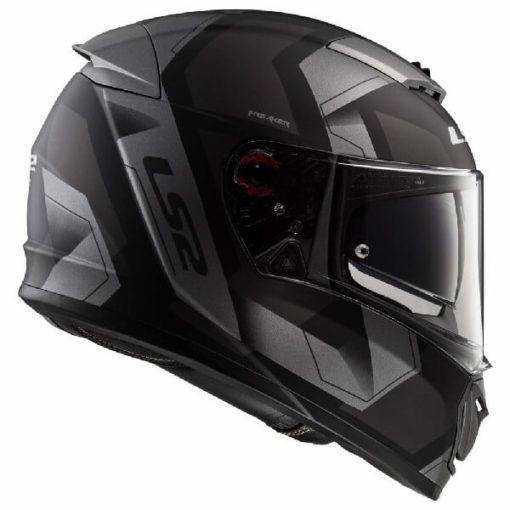 LS2 FF390 Breaker Physics Matt Black Titanium Full Face Helmet 2
