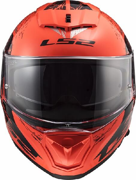 LS2 FF390 Breaker Swat Matt Fluorescent Orange Black Full Face Helmet 2
