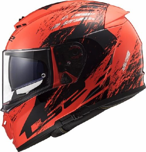LS2 FF390 Breaker Swat Matt Fluorescent Orange Black Full Face Helmet