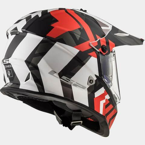 LS2 MX436 Pioneer Extreme Matt Black Red Dual Sport Helmet 1