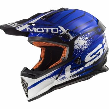 LS2 MX437 Gator Matt Blue Motocross Helmet