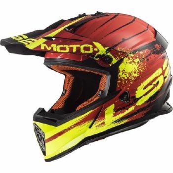 LS2 MX437 Gator Matt Red Motocross Helmet