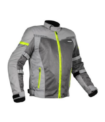 Rynox Air GT 3 Dark Grey Hi Viz Green Riding Jacket