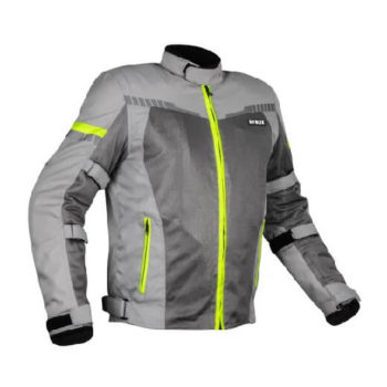 Rynox Air GT 3 Dark Grey Hi Viz Green Riding Jacket