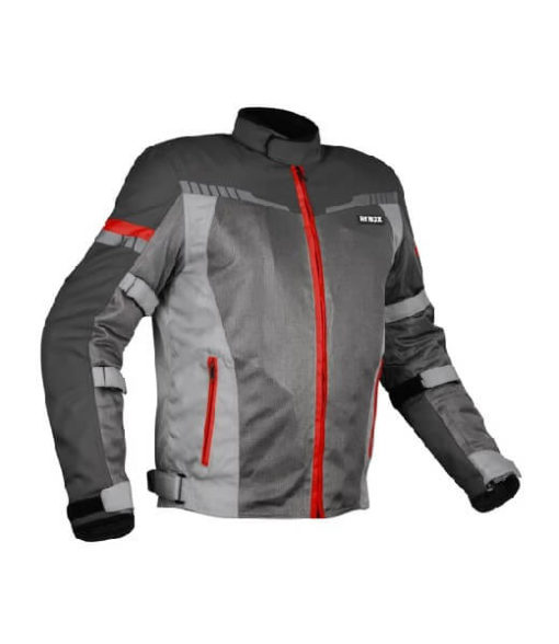 Rynox Air GT 3 Dark Grey Red Riding Jacket