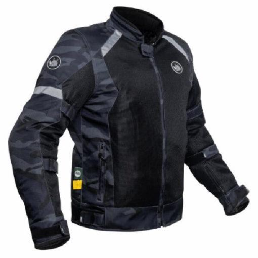 Rynox Urban X Camo Blue Riding Jacket