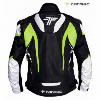 Tarmac Corsa Black White Fluorescent Yellow Riding Jacket 1