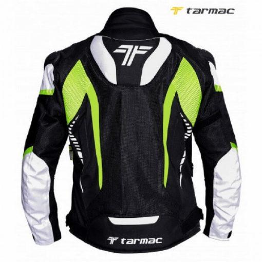 Tarmac Corsa Black White Fluorescent Yellow Riding Jacket 1