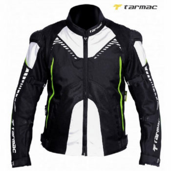 Tarmac Corsa Black White Fluorescent Yellow Riding Jacket