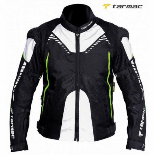 Tarmac Corsa Black White Fluorescent Yellow Riding Jacket