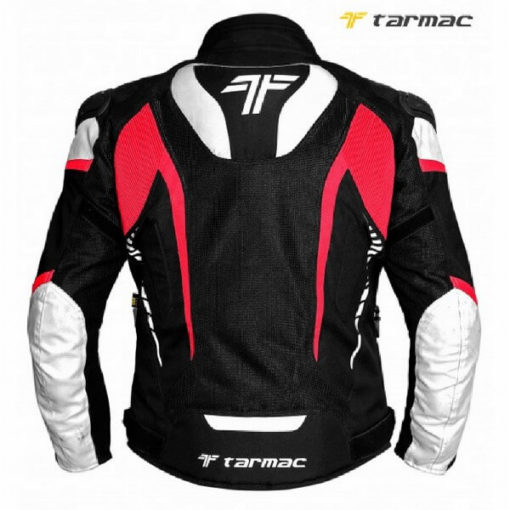 Tarmac Corsa Black White Red Riding Jacket 1