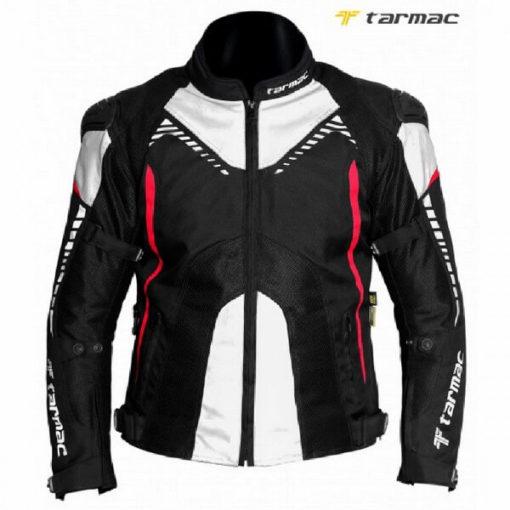 Tarmac Corsa Black White Red Riding Jacket