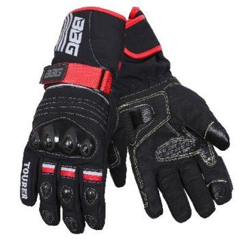 BBG Black Waterproof Winter Touring Riding Gloves 1