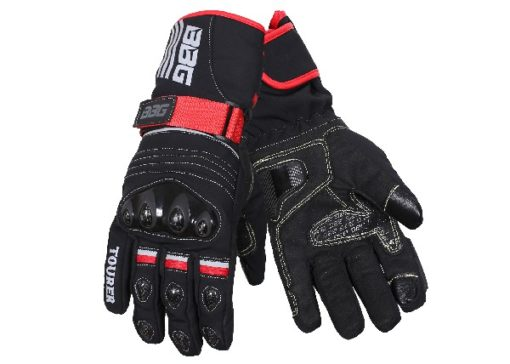 BBG Black Waterproof Winter Touring Riding Gloves 1
