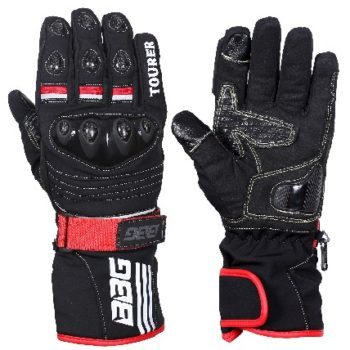 BBG Black Waterproof Winter Touring Riding Gloves