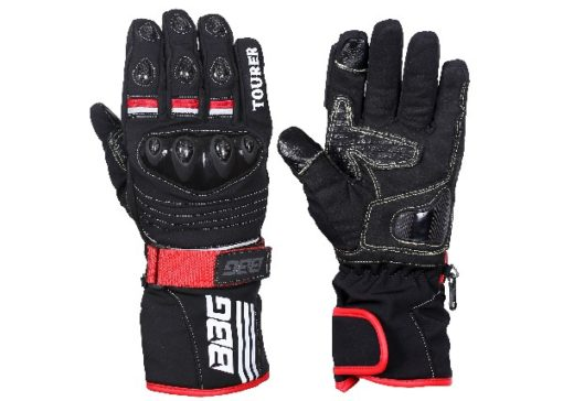 BBG Black Waterproof Winter Touring Riding Gloves