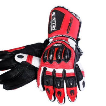 BBG Racer Full Gauntlet Red Riding Gloves