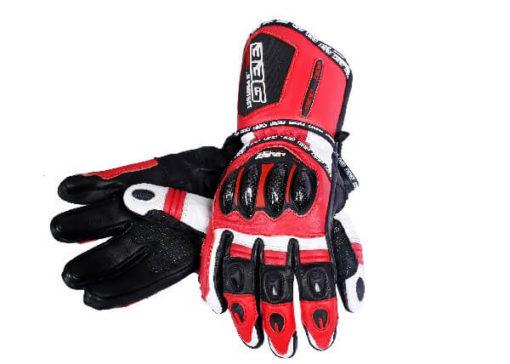 BBG Racer Full Gauntlet Red Riding Gloves