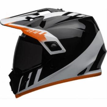 Bell MX 9 Adventure MIPS Dash Gloss Black White Orange Dual Sport Helmet