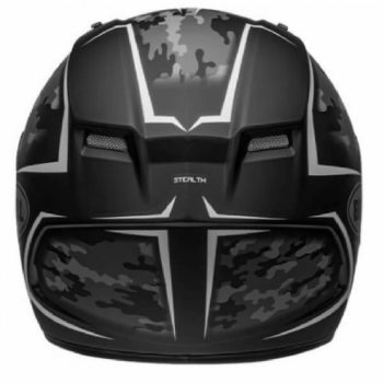 Bell Qualifier Stealth Camo Matt Black White Full Face Helmet 1