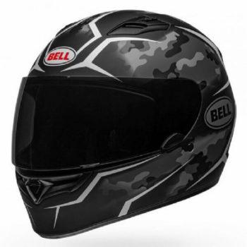 Bell Qualifier Stealth Camo Matt Black White Full Face Helmet