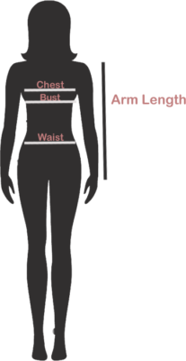Both Genders Size Diagram Jacket