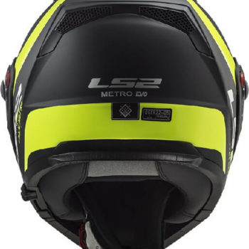 LS2 FF324 Metro Rapid Matt Black Yellow Flip Up Helmet 2019 1