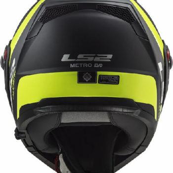 LS2 FF324 Metro Rapid Matt Black Yellow Flip Up Helmet 2019 1