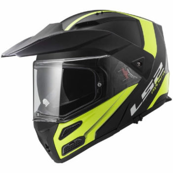 LS2 FF324 Metro Rapid Matt Black Yellow Flip Up Helmet 2019