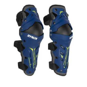 Rynox Bastion Bionic Black Blue Knee Guards
