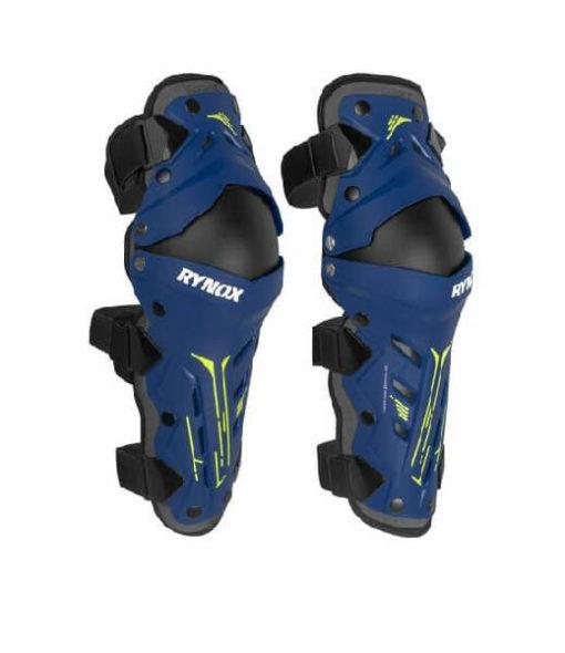 Rynox Bastion Bionic Black Blue Knee Guards