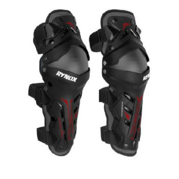 Rynox Bastion Bionic Black Red Knee Guards