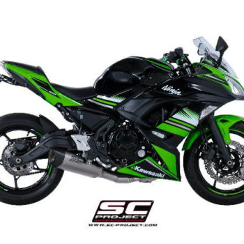 SC Project 2 in 1 Carbon Fiber End Cap Full System Exhaust for Ninja 650