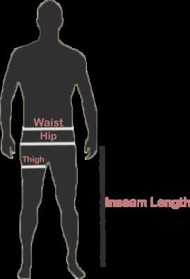 howtomeasure adult Male Pants