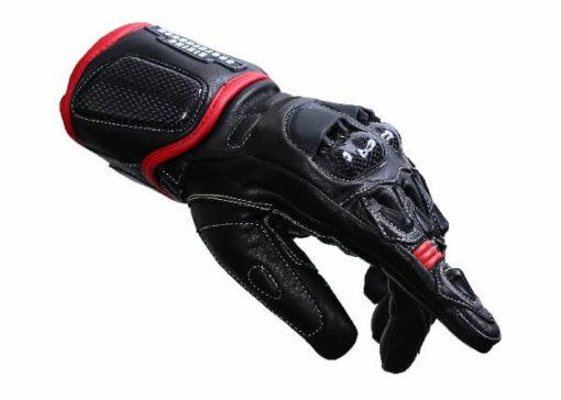 BBG Black Full Gauntlet Leather Riding Gloves 1