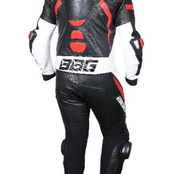BBG Black White Red Full Race Suit 2