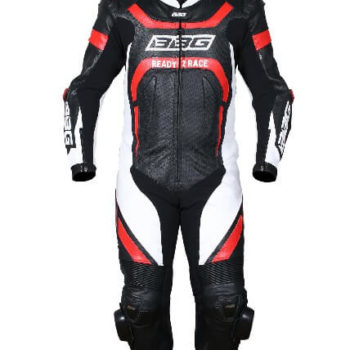BBG Black White Red Full Race Suit