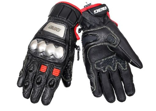 BBG Semi Gauntlet Leather Riding Gloves