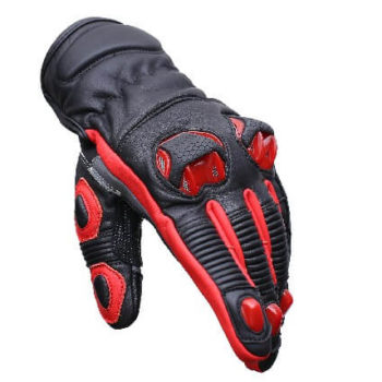 BBG Snell Iconic Black Red Riding Gloves 1