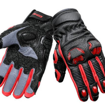 BBG Snell Iconic Black Red Riding Gloves