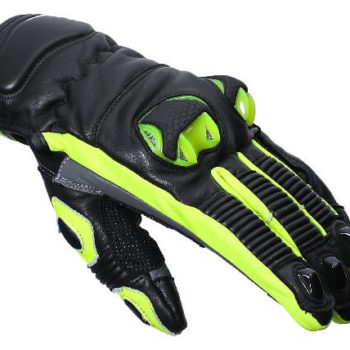 BBG Snell Iconic Fluorescent Yellow Riding Gloves 1