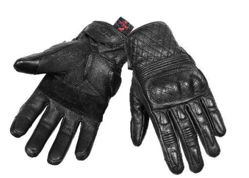 BBG Snell Retro Black Riding Gloves