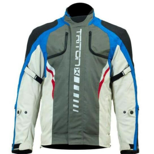 DSG Triton X Blue Grey Riding Jacket 2019