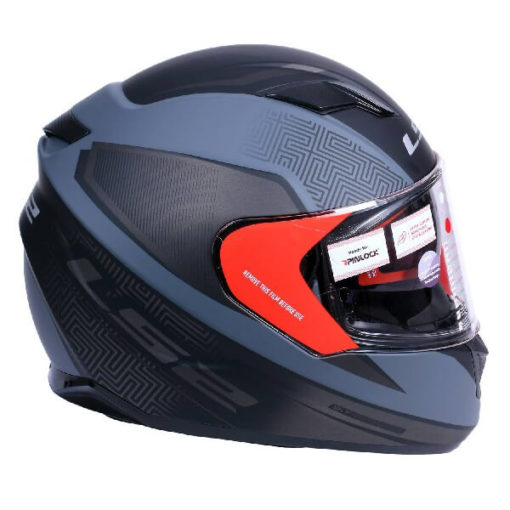 LS2 FF320 Retake Cool Matt Black Grey Full Face Helmet 1
