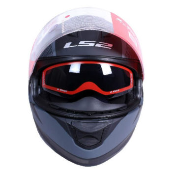 LS2 FF320 Retake Cool Matt Black Grey Full Face Helmet 2