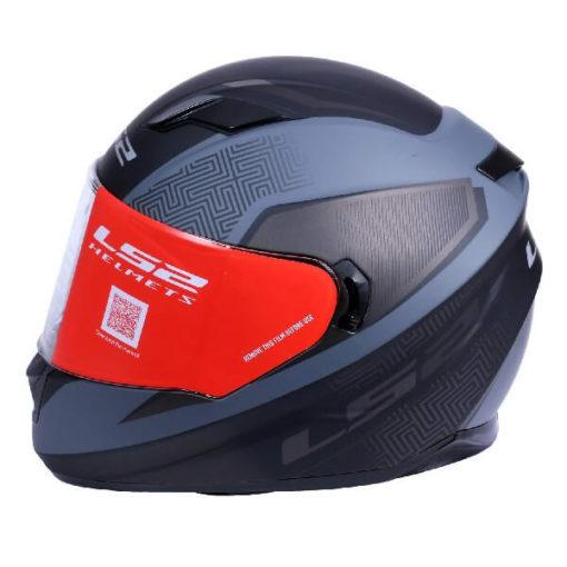 LS2 FF320 Retake Cool Matt Black Grey Full Face Helmet